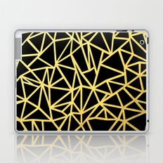Abstract Outline Thick Gold Laptop & iPad Skin