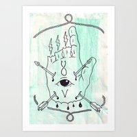 The One Who Points The W… Art Print