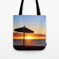 Desert Island Sunset beach Tote Bag