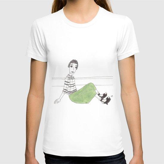 girl on the floor T-shirt