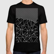 Ab Lines 45 Black Mens Fitted Tee Black SMALL