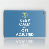 Keep Calm and Get Adjusted (chiropractor) Laptop & iPad Skin