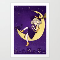 watching witch Art Print