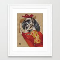 FIRE MARSHALL Framed Art Print