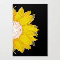 Portrait Of Summer - Yel… Canvas Print