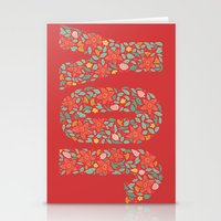 JOY in Red Stationery Cards