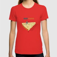 Slice fishing Womens Fitted Tee Red SMALL