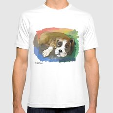 Boxer SMALL White Mens Fitted Tee