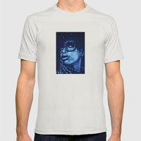 Badu?!-blue Mens Fitted Tee Silver SMALL