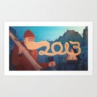 Golden Beard - 2013 Gree… Art Print