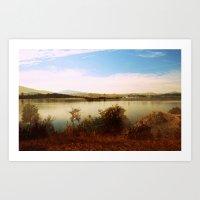 Canberra Foreshore Art Print