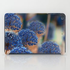 Blue ball flowers. iPad Case