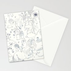 Blue Toile Stationery Cards