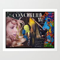 Coachella 2011 Collage Art Print