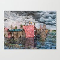 Water Wall Canvas Print