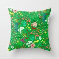 Emarald Rain-Pattern Throw Pillow