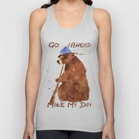Bear Painting, Bear With… Unisex Tank Top