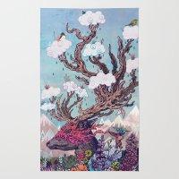 Journeying Spirit (deer) Rug