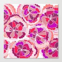 Floral Fuchsia Canvas Print