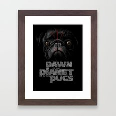 Dawn of the Planet of the Pugs Framed Art Print