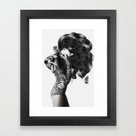 Framed Art Print featuring Bear #2 by Jenny Liz Rome