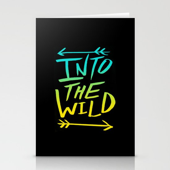 Into The Wild: Typography Stationery Card