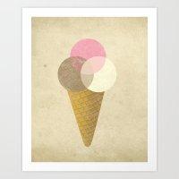 Ice Cream Venndor Art Print