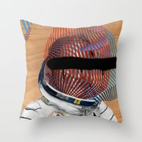 Spaceman No:2 Throw Pillow