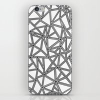 Abstract New Black On Wh… iPhone & iPod Skin