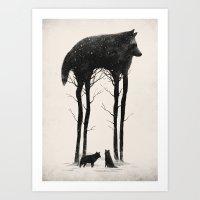 tree Art Prints featuring Standing Tall by Dan Burgess