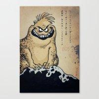 Kaiju Parchment Canvas Print