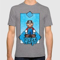 Mario Heisenberg Mens Fitted Tee Tri-Grey SMALL