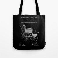 Stroller Patent - Black Tote Bag