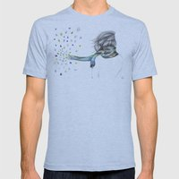 Leave Me Alone Mens Fitted Tee Athletic Blue SMALL