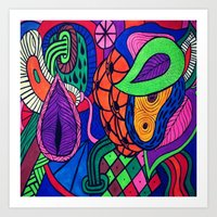Arstract Fruits Art Print