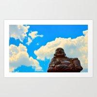 Happy Buddha on a Beautiful Day Art Print