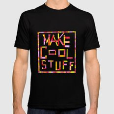 Make Cool Stuff SMALL Black Mens Fitted Tee