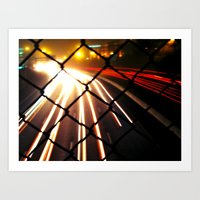 Streaming Light Art Print
