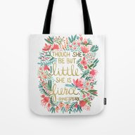 Little & Fierce Tote Bag