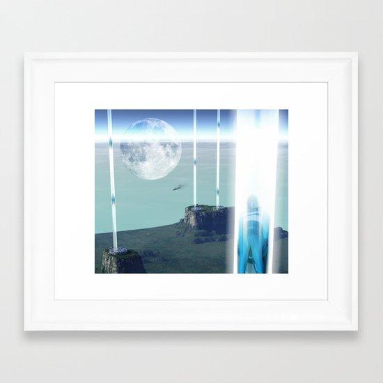 space elevator - transfer station 2099 Framed Art Print