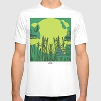 Grassy Sunset. Mens Fitted Tee White SMALL