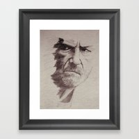 HALF FACE II Framed Art Print