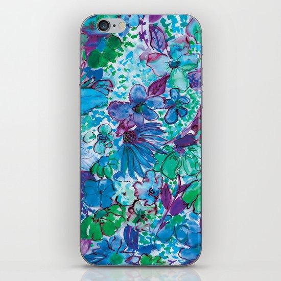 Wildflower Blue iPhone & iPod Skin