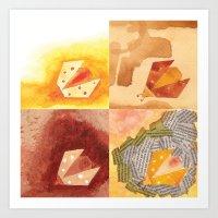 4 Ladybirds Art Print