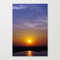 Sunset at the Dam Canvas Print