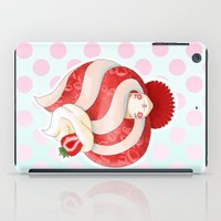 Doll faced strawberry and cream parfait iPad Case