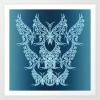 Indian Butterfly Enblem  Art Print
