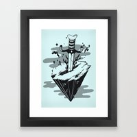 Releasing Dark Matter Framed Art Print