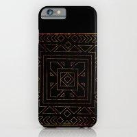 Geometric I - Black on Wood iPhone 6 Slim Case