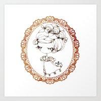 Princessmi - Elegant Gir… Art Print